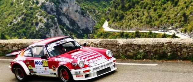 MOURGUES s'offre une belle victoire au Rallye d'Antibes avec une Porsche ALMERAS en VHC