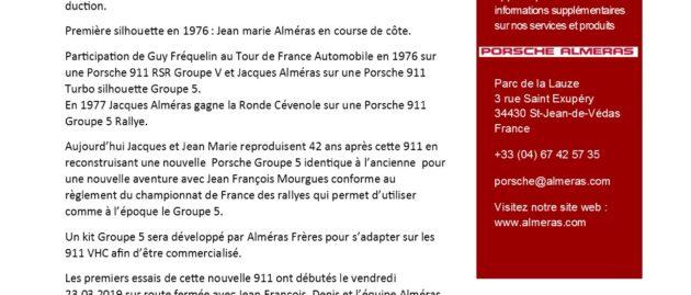Porsche Alméras Silhouette Groupe 5